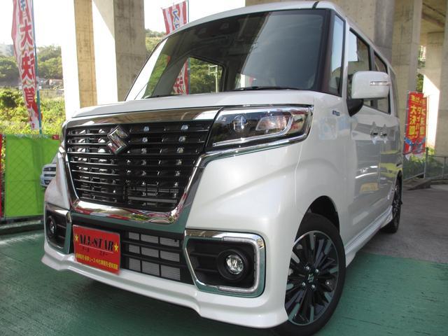 沖縄の中古車 スズキ スペーシアカスタム 車両価格 169.8万円 リ未 新車  パールホワイト
