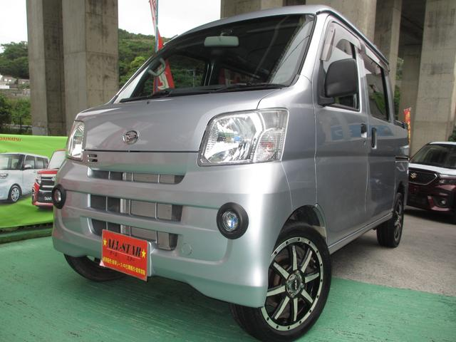 沖縄の中古車 ダイハツ ハイゼットカーゴ 車両価格 88.8万円 リ済込 2015(平成27)年 2.4万km シルバーM