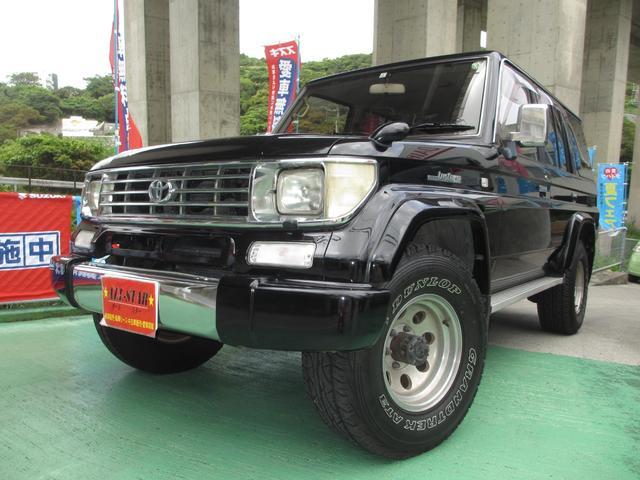 沖縄の中古車 トヨタ ランドクルーザープラド 車両価格 215万円 リ済込 1995(平成7)年 21.0万km ブラックM