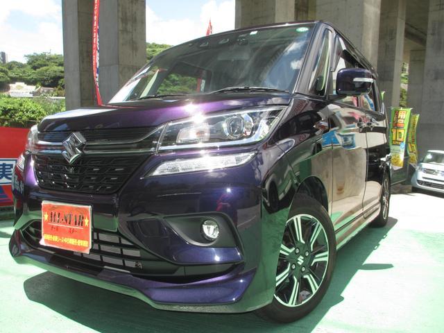 沖縄の中古車 スズキ ソリオバンディット 車両価格 198万円 リ済込 2020(令和2)年 1.5万km ダークパープルM