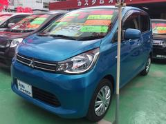 沖縄の中古車 三菱 eKワゴン 車両価格 58万円 リ済込 平成25年 8.0万K ブルー