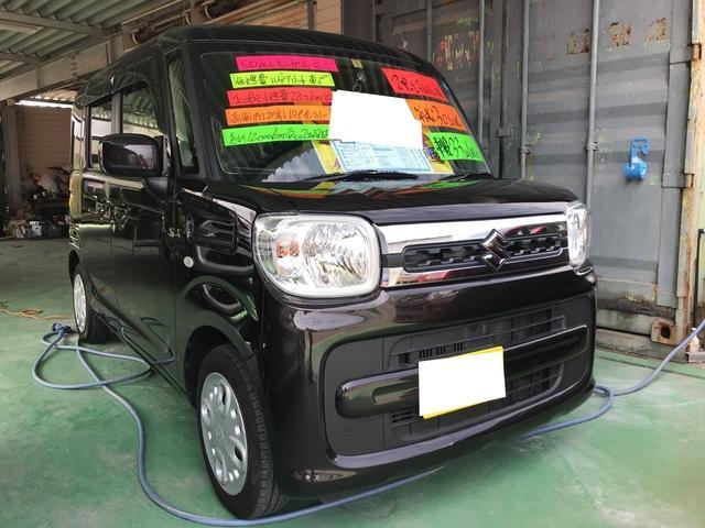 沖縄の中古車 スズキ スペーシア 車両価格 114万円 リ済込 平成30年 1.2万km アーバンブラウンパールメタリック
