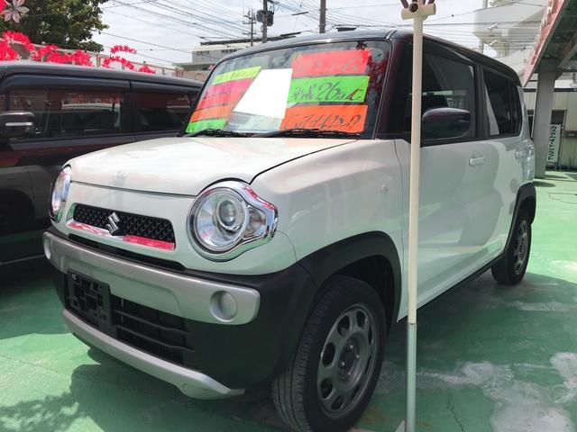 沖縄の中古車 スズキ ハスラー 車両価格 88万円 リ済込 平成26年 7.2万km パールホワイトII