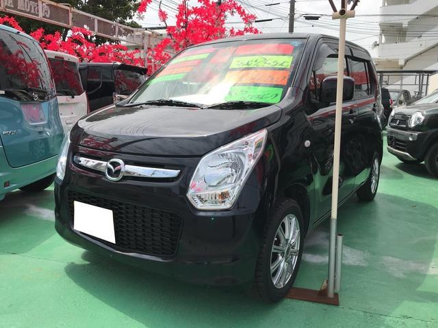 沖縄の中古車 マツダ フレア 車両価格 64万円 リ済込 平成25年 2.5万km ブルーイッシュブラックパール3