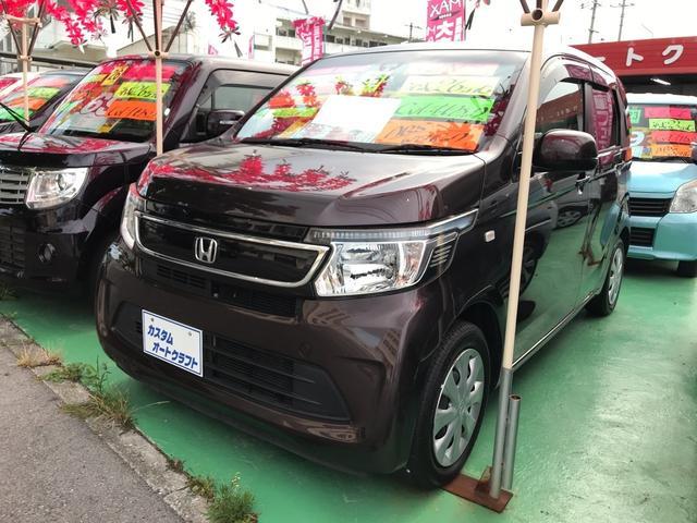 沖縄の中古車 ホンダ N-WGN 車両価格 78万円 リ済込 2014(平成26)年 4.6万km ブラウン