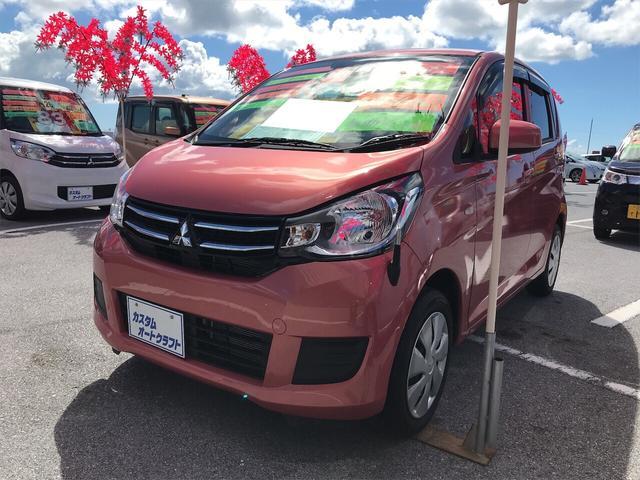 沖縄県の中古車ならeKワゴン M TV ナビ 軽自動車 コーラルピンクマイカ ベンチシート
