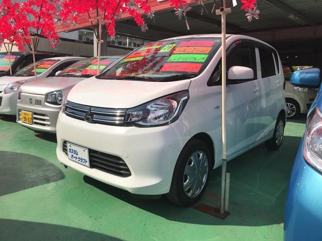 沖縄の中古車 三菱 eKワゴン 車両価格 57万円 リ済込 2014(平成26)年 6.2万km ホワイトソリッド
