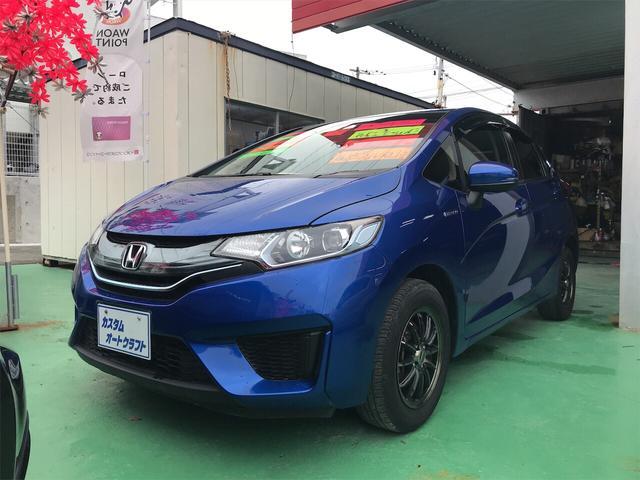 沖縄の中古車 ホンダ フィットハイブリッド 車両価格 88万円 リ済込 2013(平成25)年 5.3万km ブリリアントスポーティブルーメタリック