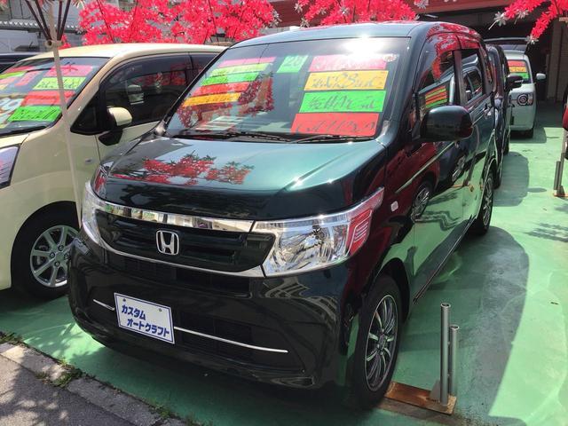 沖縄の中古車 ホンダ N-WGN 車両価格 94万円 リ済込 2016(平成28)年 1.6万km Dグリーン