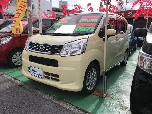 沖縄の中古車 ダイハツ ムーヴ 車両価格 88万円 リ済込 2017(平成29)年 1.1万km コットンアイボリー