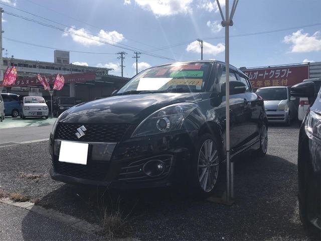 沖縄の中古車 スズキ スイフトスポーツ 車両価格 84万円 リ済込 2012(平成24)年 7.9万km スーパーブラックパール