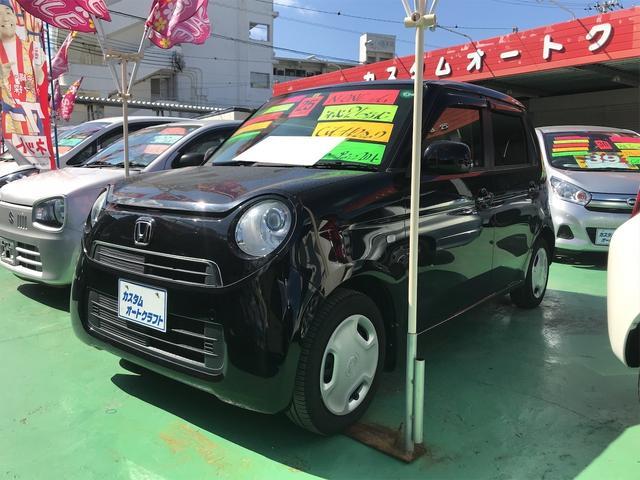 沖縄の中古車 ホンダ N-ONE 車両価格 64万円 リ済込 2013(平成25)年 8.6万km クリスタルブラックパールII