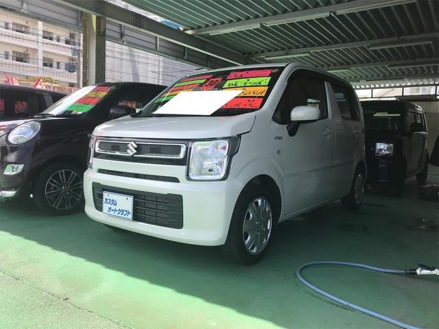 沖縄の中古車 スズキ ワゴンR 車両価格 88万円 リ済込 2018(平成30)年 3.5万km ピュアホワイトパール
