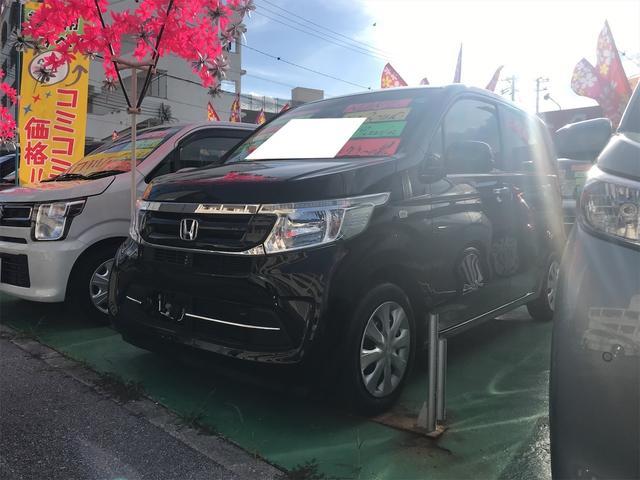 沖縄の中古車 ホンダ N-WGN 車両価格 88万円 リ済込 2018(平成30)年 1.9万km クリスタルブラックパール
