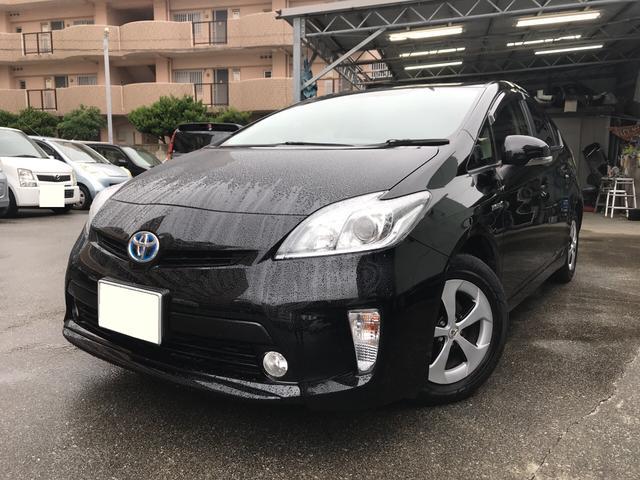 沖縄の中古車 トヨタ プリウス 車両価格 135万円 リ済込 2015(平成27)年 4.0万km ブラック