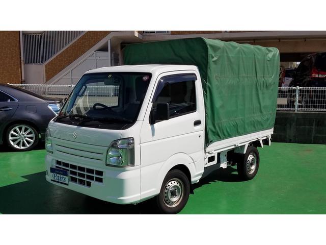沖縄県の中古車ならキャリイトラック KCエアコン・パワステ 幌付き・エアコン・パワステ