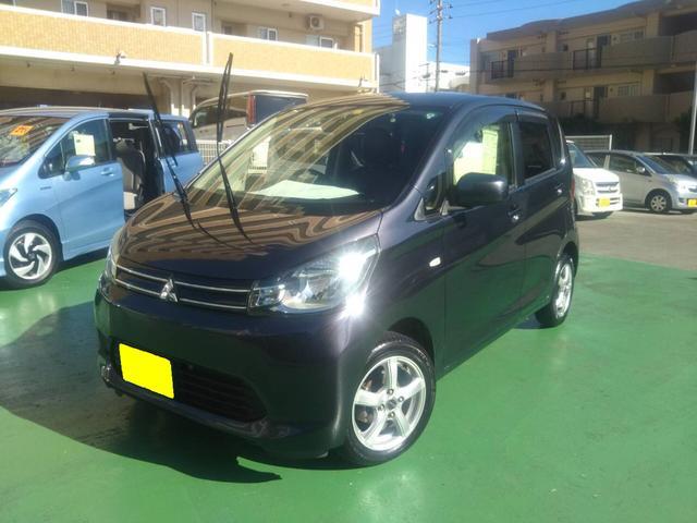 沖縄の中古車 三菱 eKワゴン 車両価格 45万円 リ済込 2013(平成25)年 9.3万km 紺