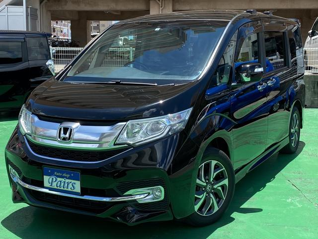 沖縄の中古車 ホンダ ステップワゴンスパーダ 車両価格 179万円 リ済込 2016(平成28)年 5.7万km ブラック