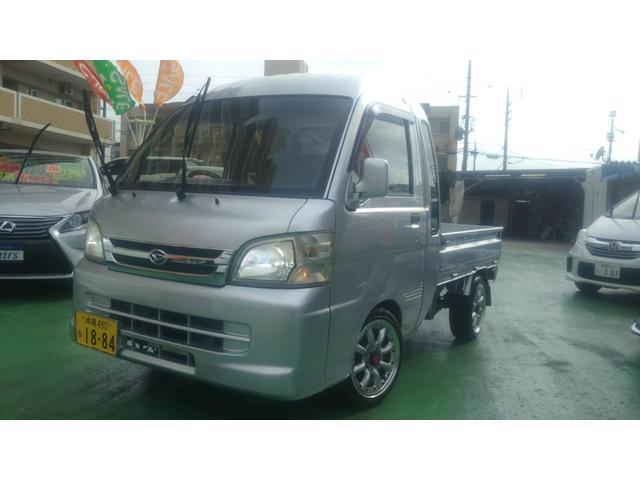 沖縄県の中古車ならハイゼットトラック ジャンボ 車高調 ワタナベ14インチアルミ LEDライト 2WD   マニュアル5速 フル装備