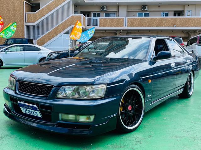 沖縄県中頭郡中城村の中古車ならローレル 25クラブSターボタイプX RB25ターボエンジン DMAX 車高調 カーツ LSD R32キャリパー サード触媒 R34加工マフラー 追加メーター