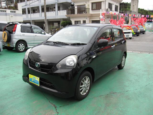 沖縄の中古車 ダイハツ ミライース 車両価格 39万円 リ済込 2013(平成25)年 9.1万km ブラックM