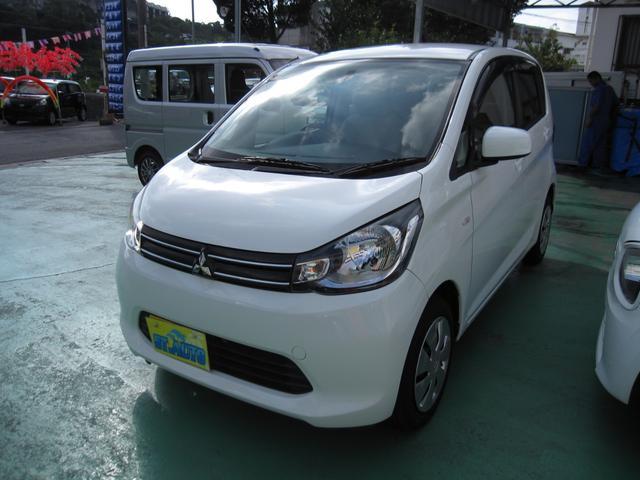 沖縄の中古車 三菱 eKワゴン 車両価格 49万円 リ済込 2013(平成25)年 11.7万km ホワイト