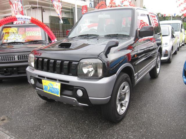 沖縄の中古車 スズキ ジムニー 車両価格 54万円 リ済込 2003(平成15)年 17.2万km ブラックM