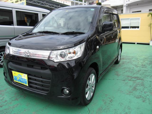 沖縄の中古車 スズキ ワゴンRスティングレー 車両価格 53万円 リ済込 2013(平成25)年 11.5万km ブラックM