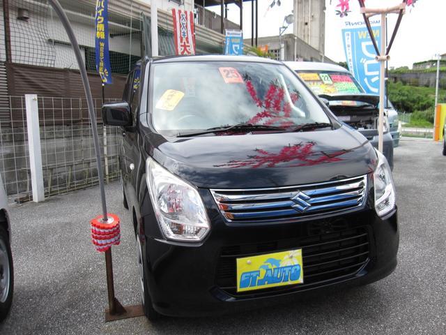 沖縄の中古車 スズキ ワゴンR 車両価格 45万円 リ済込 2013(平成25)年 9.6万km DブラックM