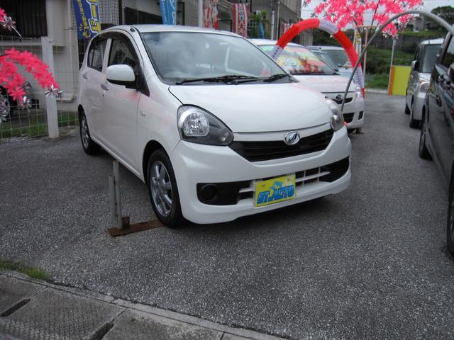 沖縄の中古車 ダイハツ ミライース 車両価格 43万円 リ済込 2016(平成28)年 7.8万km ホワイト