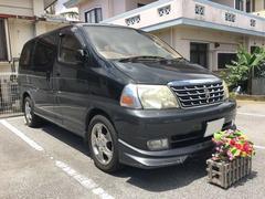 沖縄の中古車 トヨタ グランドハイエース 車両価格 69万円 リ済込 平成14年 16.2万K ブラック