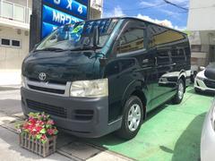 沖縄の中古車 トヨタ ハイエースバン 車両価格 159万円 リ済込 平成19年 3.9万K モスグリーン