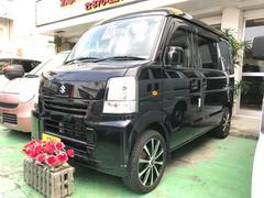 沖縄の中古車 スズキ エブリイ 車両価格 55万円 リ済込 平成20年 7.7万K ブラック