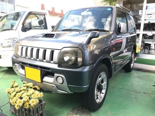 沖縄の中古車 スズキ ジムニー 車両価格 55万円 リ済込 平成15年 14.7万km グレーM