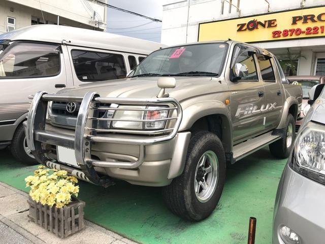 沖縄の中古車 トヨタ ハイラックススポーツピック 車両価格 139万円 リ済込 平成13年 19.3万km ゴールド