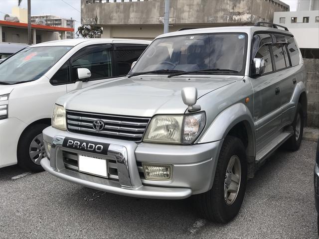 沖縄の中古車 トヨタ ランドクルーザープラド 車両価格 129万円 リ済込 平成11年 16.1万km シルバー