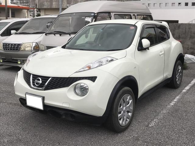 沖縄の中古車 日産 ジューク 車両価格 79万円 リ済込 2012(平成24)年 1.6万km パールホワイト