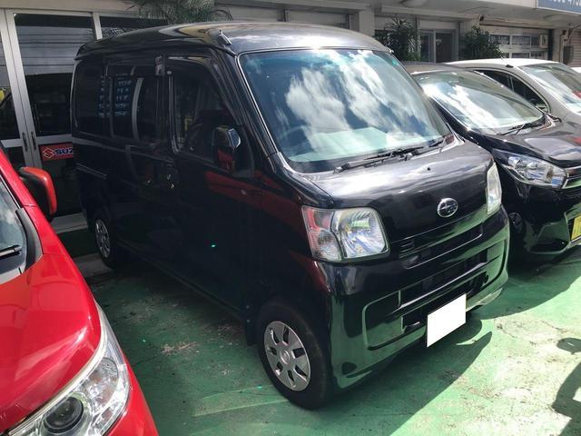 沖縄の中古車 スバル サンバーバン 車両価格 55万円 リ済込 2013(平成25)年 7.4万km ブラック