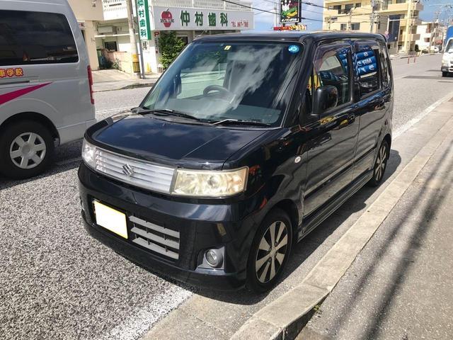 沖縄の中古車 スズキ ワゴンR 車両価格 19万円 リ済込 2007(平成19)年 11.2万km ブラック