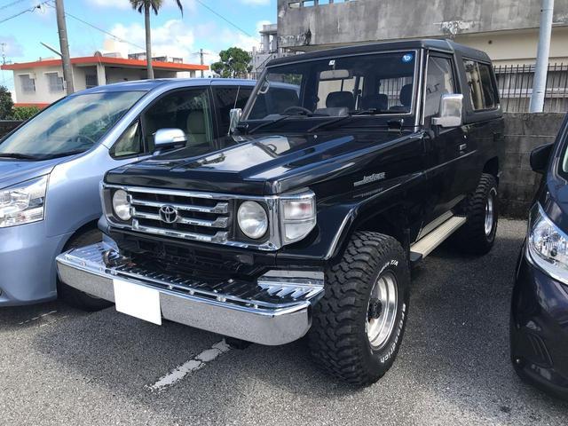 沖縄の中古車 トヨタ ランドクルーザー70 車両価格 155万円 リ済込 1992(平成4)年 18.4万km ブラック