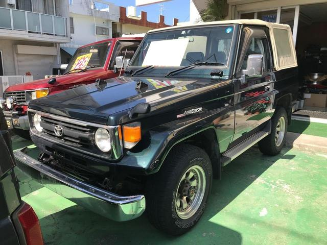沖縄県の中古車ならランドクルーザー70 LX 4WD 幌付 社外アルミ ETC 5MT