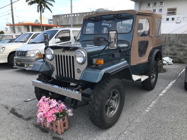 沖縄の中古車 三菱 ジープ 車両価格 95万円 リ済込 1994(平成6)年 7.3万km Dグリーン