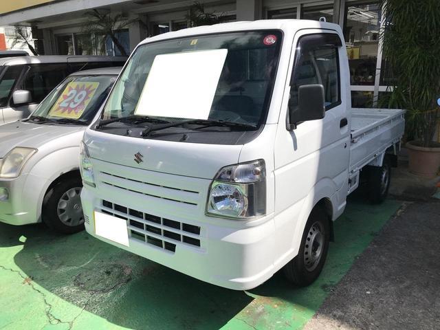 沖縄県宜野湾市の中古車ならキャリイトラック KCエアコン・パワステ ナビ Bluetooth接続 ETC CD