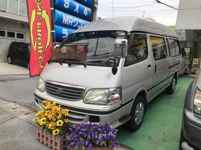 沖縄県宜野湾市の中古車ならハイエースワゴン グランドキャビンG-e ディーゼルターボ 10人乗り バックモニター ETC キーレス リア修復