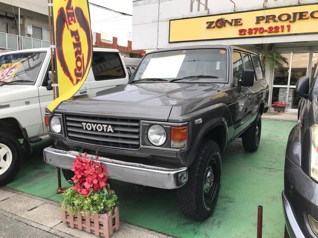 沖縄県の中古車ならランドクルーザー60 GX 4WD 社外ナビ 地デジTV CD 社外ハンドル 社外アルミ 前後純正デフロック リフトアップ