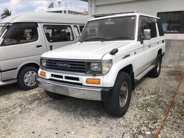 沖縄県の中古車ならランドクルーザープラド SX ナローボディー ワンオーナー 4WD ディーゼルターボ 記録簿有 保証書有 純正アルミ CD