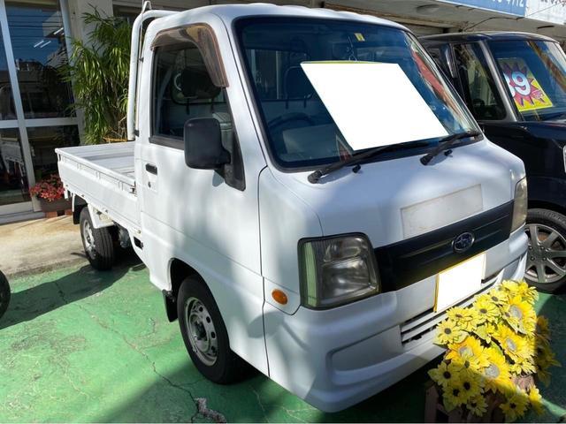 沖縄県の中古車ならサンバートラック TB 2WD ワンオーナー 3AT エアコン 記録簿付 保証書類付