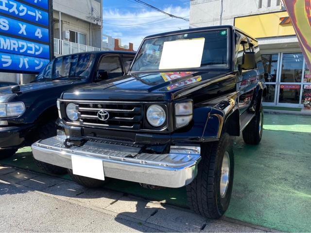 沖縄県宜野湾市の中古車ならランドクルーザー70 LX ディーゼル リフトアップ 社外ハンドル オーバーフェンダー 社外アルミ 地デジTV ナビ Bluetooth接続