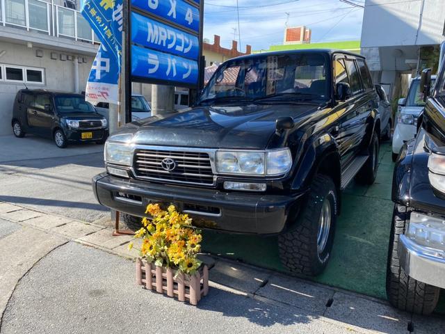 沖縄県の中古車ならランドクルーザー80 VX ディーゼルターボ 4WD リフトアップ 社外アルミ 社外ハンドル サンルーフ