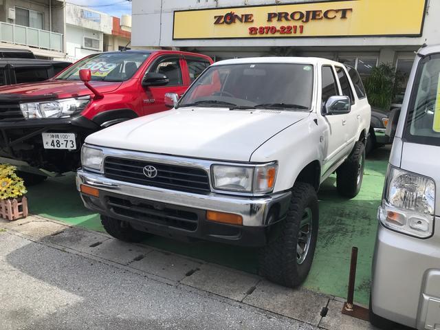 沖縄県の中古車ならハイラックスサーフ  ナロー 4WD ターボ 社外アルミ リフトアップ サンルーフ キーレス CD